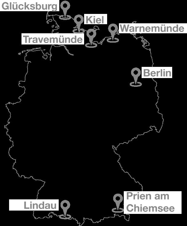 Segel-Bundesliga Spielorte 2017